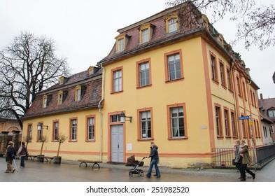 WEIMAR, JAN 8: Building of the Bauhaus Museum on Jan 8, 2013 in Weimar, Germany
