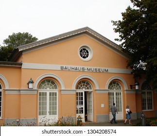 Weimar, Thuringia / Germany - September 2014:  The Bauhaus-Museum. A museum dedicated to the architectural style of Bauhaus.