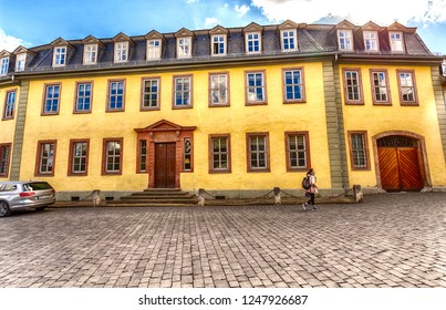 Weimar, Thuringia, Germany - September 25, 2018: Goethe House Museum, whose exposition is dedicated to the life and work of Johann Wolfgang Goethe.