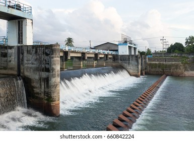 Weir at Ranong in Thailand.