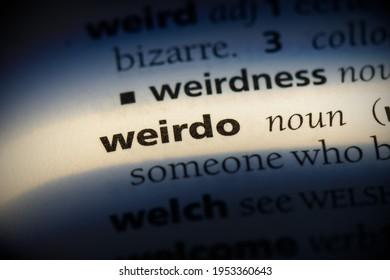 weirdo word in a dictionary. weirdo concept, definition.