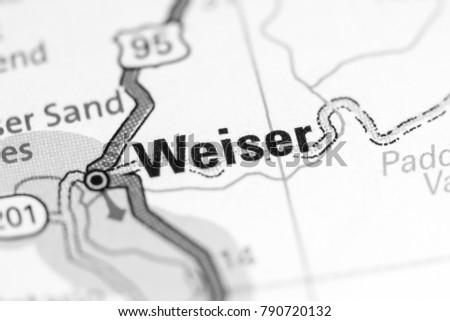 Weiser Idaho Usa On Map Stock Photo Edit Now 790720132 Shutterstock