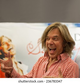 WEITERSTADT, GERMANY - OCTOBER, 2011: Singer Juergen Drews at a autograph session for fans on October 5, 2011 in Weiterstadt, Germany
