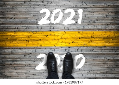 Welcome to 2021, Goodbye to 2020 Start Concept - Shutterstock ID 1781987177