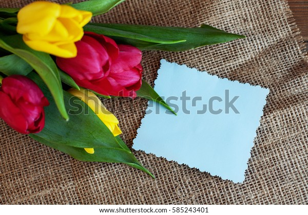Welcome background with flowers. Conception holiday, March 8, birthday, Mother's Day