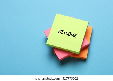 Welcome, Business Concept