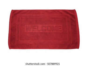 welcome carpet isolated on white background with clipping path.