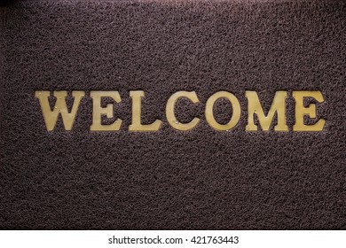 Welcome carpet and texture