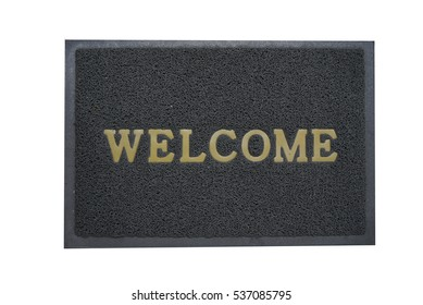 welcome doormat gray color