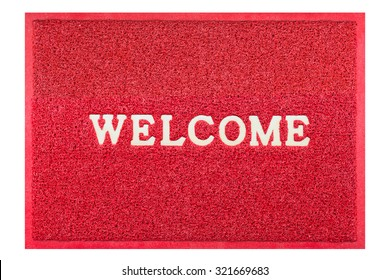 welcome doormat red color