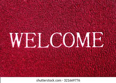 welcome doormat red color