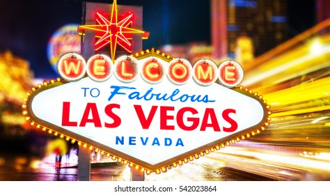 Welcome To  Fabulous Las Vegas neon sign Nevada USA