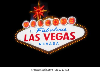welcome to fabulous las vegas nevada light sign billboard famous night