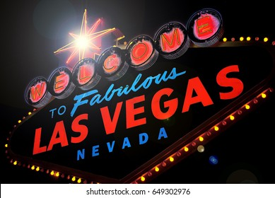 Welcome to fabulous Las vegas Nevada sign in black