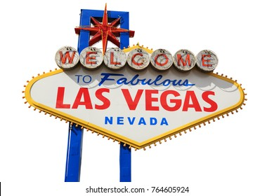 Welcome To Fabulous Las Vegas Nevada Sign, Las Vegas, isolated, Cut Out