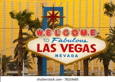 Welcome to Fabulous Las Vegas Sign, Nevada, USA
