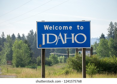 welcome to idaho state highway sign
