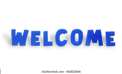 WELCOME isolated on white background. this has clipping path.