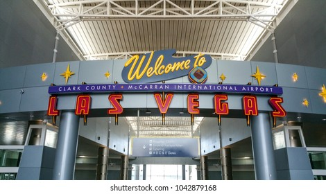 Welcome to Las Vegas Airport - LAS VEGAS / NEVADA - OCTOBER 20, 2017