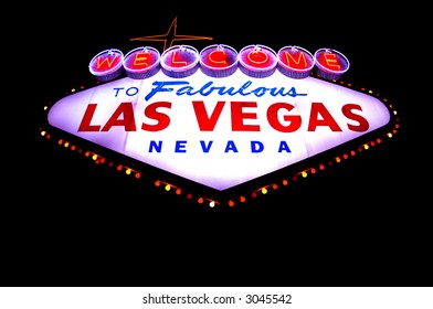 Welcome to Las Vegas Neon sign at night