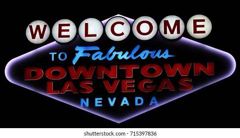 Welcome to Las Vegas Nevada neon sign against a dark background
