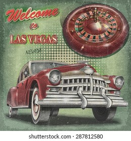 Welcome to Las Vegas retro poster.