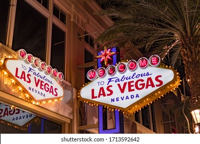 Welcome to Las Vegas Signage at the Las Vegas Strip, Las Vegas Nevada USA, March 30, 2020