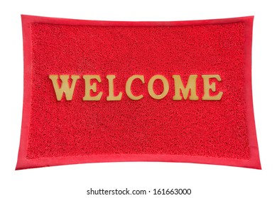welcome mat isolated.