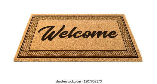 Welcome Mat Isolated On A White Background.
