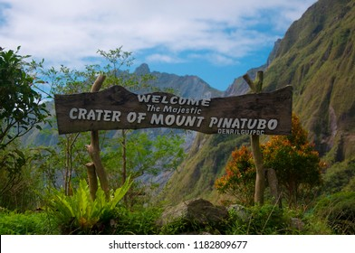 Welcome to Mount Pinatubo Entrance Sign