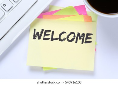 New employee images stock photos vectors shutterstock welcome new employee colleague refugees refugee immigrants computer desk keyboard thecheapjerseys Choice Image