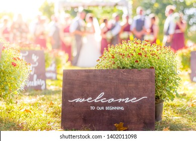 Welcome to Our Beginning Wedding Sign New Start