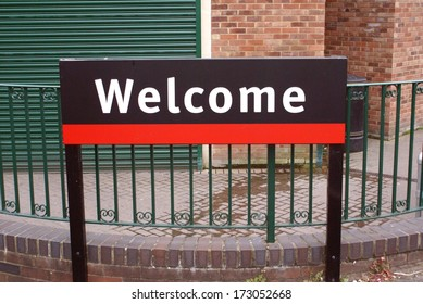 welcome. sign