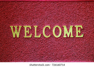 welcome sign on wipes dust is the most popular doormat to lay outside at a entrance of building