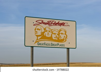 The welcome sign at the South Dakota state line.