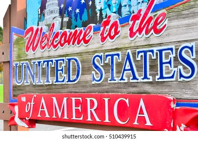 Welcome to the United States of America sign