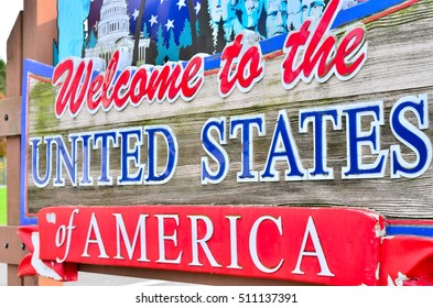 Welcome to the United States of America signage