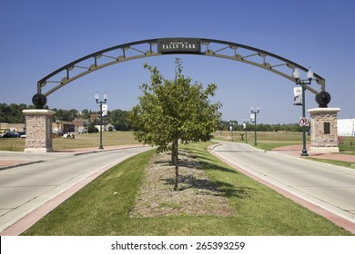 Welcoming Gate to Falls Park, Sioux Falls, South Dakota