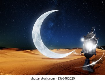 welcoming in the holy month of Ramadan from the sand dunes