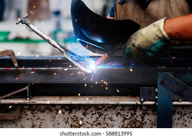 welder Industrial machinery part in factory