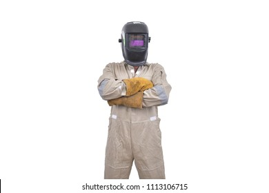 Welder isolated on white background
