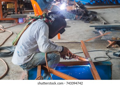 welder on site structure