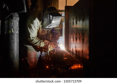 welder while working in production