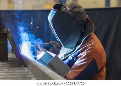 Welder at work.
