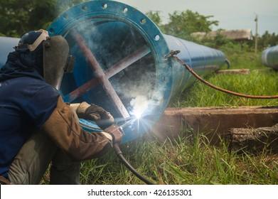 Welders, iron