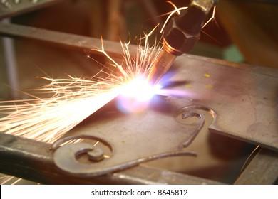 welding bright light