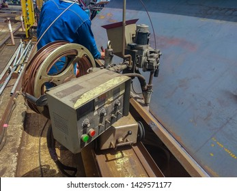 Welding for built-up H-Beam with process Submerged Arc Welding(SAW)