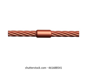 Ground wire images stock photos vectors shutterstock welding copper ground wire in substation3d rendering greentooth Images
