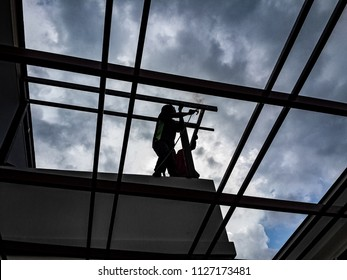 Welding is done by skilled technicians with tools such as electric cabinets and meters and measuring wires, and high-tension lines and steel cutters