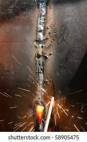 Welding  metal  pipe